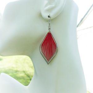 Jewelry - Red thread earrings
